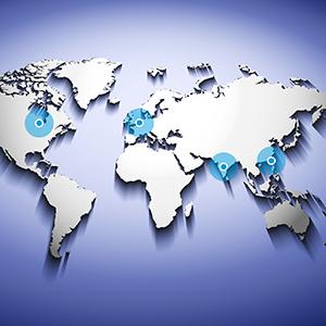 NE – WERELDWIJDE SERVICE – wereldkaart servicepunten
